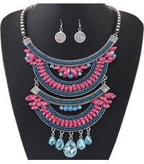collar rosa con azul acl-13185