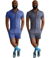 male romper romp the summer for dudes chambray mens jumpsuit