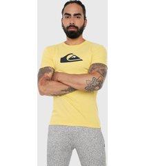 camiseta amarillo quiksilver comp