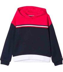 tommy hilfiger hooded signature sweatshirt