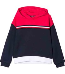 tommy hilfiger hooded signature sweatshirt