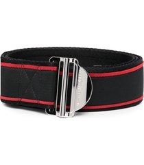 alexander mcqueen logo-print belt - black