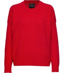 crewneck knit gebreide trui rood scotch & soda