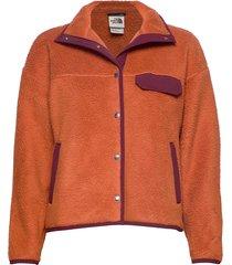 w cragmont flc jkt sweat-shirts & hoodies fleeces & midlayers orange the north face