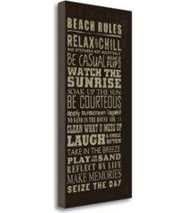 "tangletown fine art beach rules by jim baldwin giclee print on gallery wrap canvas, 20"" x 40"""