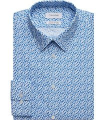 calvin klein infinite blue floral extreme slim fit dress shirt