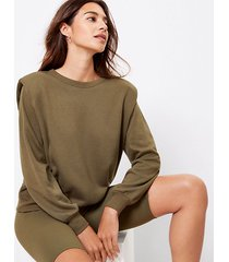 loft padded shoulder sweatshirt
