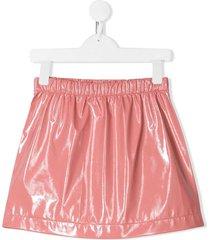 andorine leather-look skirt - pink