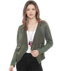 chaqueta jacqueline de yong sie verde - calce holgado