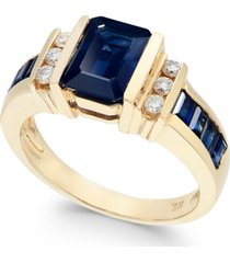 effy emerald (2-1/4 ct. t.w.) and diamond (1/6 ct. t.w.) ring in 14k gold(also available in sapphire)