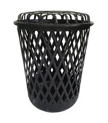 cesto de plástico telado para roupa 65 l