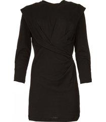 jurk met schouderdetails beckett  zwart