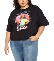 mighty fine trendy plus size erica stranger things cropped t-shirt