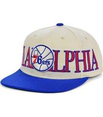 mitchell & ness philadelphia 76ers hardwood classic winners circle snapback cap