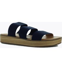 sandalia elastico baja  azul marino perugia 33202el-ma