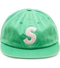 supreme s logo camp cap - green