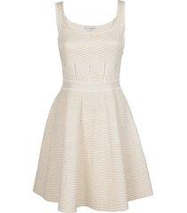 alexander mcqueen white viscose blend dress