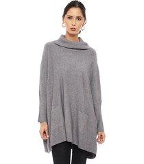 sweater privilege gris - calce oversize