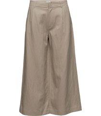 max cropped wide trousers vida byxor beige filippa k