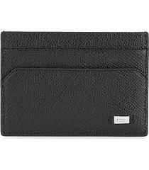 bally men's money clip leather card case - black