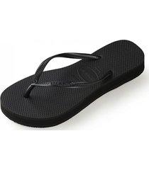 sandalias slim flatform negro havaianas