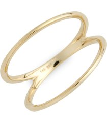 women's bony levy 14kt two bar ring (nordstrom exclusive)
