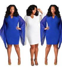 plus size wide sleeve bodycon dress