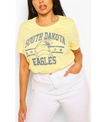 plus dakota eagles slogan t-shirt, geel