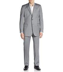 regular-fit herringbone wool/silk suit