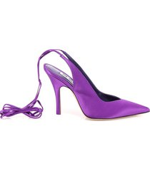 the attico ankle tie fastening pumps