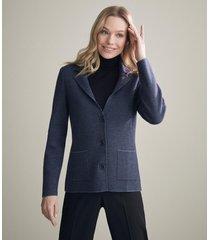 giacca piquet bicolore