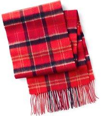 barbour merino/cashmere tartan scarf