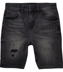river island boy black sid skinny shorts