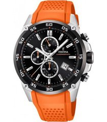 reloj festina modelo f20330/4 naranja hombre