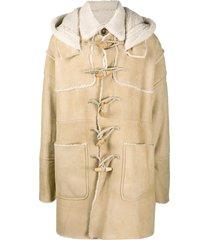 dsquared2 hooded duffle coat - neutrals