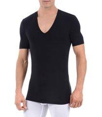 men's tommy john second skin micromodal deep v-neck undershirt