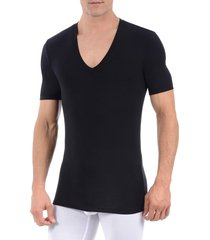 men's tommy john second skin micromodal deep v-neck undershirt