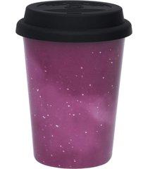 conjunto de 6 copos trip 300ml com tampa trend galaxy
