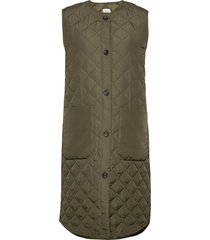 diarasz long vest vests padded vests groen saint tropez