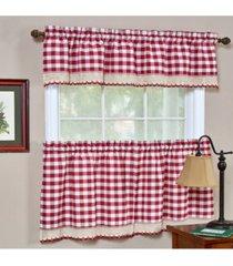 buffalo check window curtain tier pair, 58x24