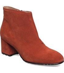 suede ankle boot shoes boots ankle boots ankle boot - heel orange ilse jacobsen
