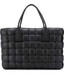 bottega veneta large padded intrecciato tote bag - black