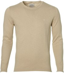 sale - hensen pullover - slim fit - beige