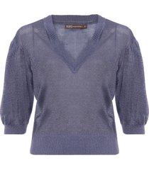 blusa feminina paty - azul
