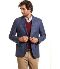 blazer checkered sweard azul ferouch