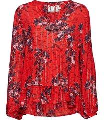 bloom blouse lange mouwen rood munthe