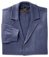 reserve collection tailored fit cotton & cashmere cardigan men's sweater jacket