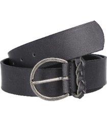 cinturón cuero liso con pasador gris