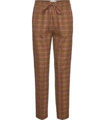 diablo pantalon met rechte pijpen bruin munthe