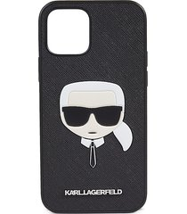 karl lagerfeld faux leather iphone 12 & iphone 12 pro case